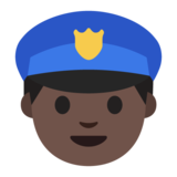 Police Officer: Dark Skin Tone on Google Android 7.0