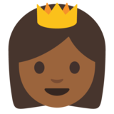 Princess: Medium-Dark Skin Tone on Google Android 7.0