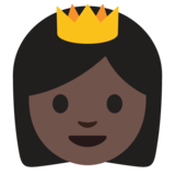 Princess: Dark Skin Tone on Google Android 7.0