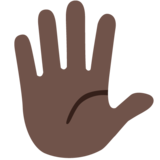 Hand With Fingers Splayed: Dark Skin Tone on Google Android 7.0