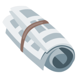Rolled-Up Newspaper on Google Android 7.0