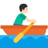 Person Rowing Boat: Light Skin Tone on Google Android 7.0