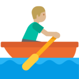 Person Rowing Boat: Medium-Light Skin Tone on Google Android 7.0