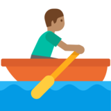 Person Rowing Boat: Medium Skin Tone on Google Android 7.0