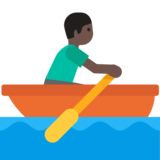 Person Rowing Boat: Dark Skin Tone on Google Android 7.0