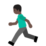 Person Running: Dark Skin Tone on Google Android 7.0