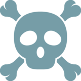 Skull and Crossbones on Google Android 7.0