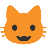 Grinning Cat Face on Google Android 7.0
