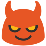 Smiling Face With Horns on Google Android 7.0
