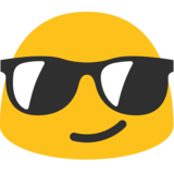 Smiling Face With Sunglasses on Google Android 7.0