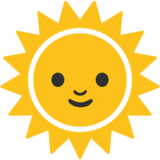 Sun With Face on Google Android 7.0
