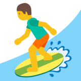 Person Surfing on Google Android 7.0