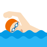 Person Swimming: Light Skin Tone on Google Android 7.0