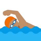 Person Swimming: Medium Skin Tone on Google Android 7.0
