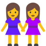 Women Holding Hands on Google Android 7.0