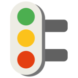 Vertical Traffic Light on Google Android 7.0