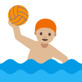 Person Playing Water Polo: Medium-Light Skin Tone on Google Android 7.0