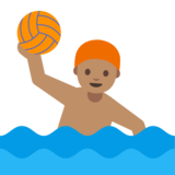 Person Playing Water Polo: Medium Skin Tone on Google Android 7.0