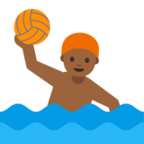 Person Playing Water Polo: Medium-Dark Skin Tone on Google Android 7.0