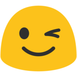 Winking Face on Google Android 7.0