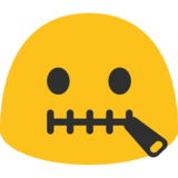 Zipper-Mouth Face on Google Android 7.0