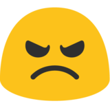 Angry Face on Google Android 7.1