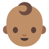 Baby: Medium Skin Tone on Google Android 7.1