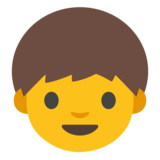 Boy on Google Android 7.1