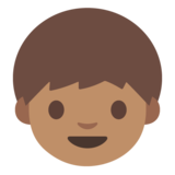 Boy: Medium Skin Tone on Google Android 7.1
