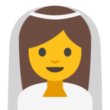 Bride With Veil on Google Android 7.1