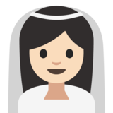 Bride With Veil: Light Skin Tone on Google Android 7.1
