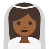 Person With Veil: Medium-Dark Skin Tone on Google Android 7.1