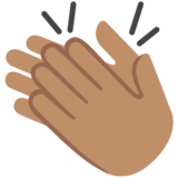 Clapping Hands: Medium Skin Tone on Google Android 7.1