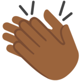 Clapping Hands: Medium-Dark Skin Tone on Google Android 7.1