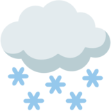 Cloud with Snow on Google Android 7.1