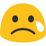 Crying Face on Google Android 7.1