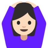 Person Gesturing OK: Light Skin Tone on Google Android 7.1