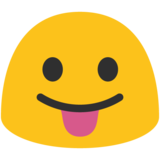 Face With Tongue on Google Android 7.1