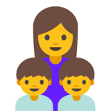 Family: Woman, Boy, Boy on Google Android 7.1