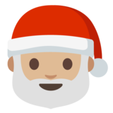 Santa Claus: Medium-Light Skin Tone on Google Android 7.1