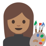 Woman Artist: Medium Skin Tone on Google Android 7.1