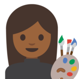 Woman Artist: Medium-Dark Skin Tone on Google Android 7.1