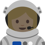 Woman Astronaut: Medium-Light Skin Tone on Google Android 7.1