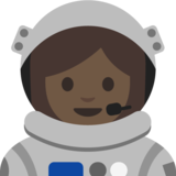 Woman Astronaut: Medium Skin Tone on Google Android 7.1