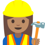 Woman Construction Worker: Medium Skin Tone on Google Android 7.1