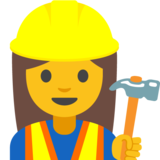 Woman Construction Worker on Google Android 7.1