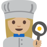 Woman Cook: Medium-Light Skin Tone on Google Android 7.1