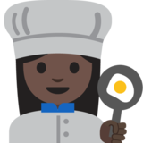Woman Cook: Dark Skin Tone on Google Android 7.1
