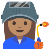 Woman Factory Worker: Medium Skin Tone on Google Android 7.1
