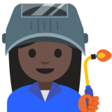 Woman Factory Worker: Dark Skin Tone on Google Android 7.1